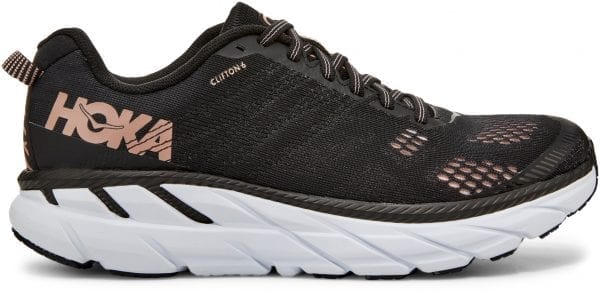 Hoka-One-One-Women-s-Clifton-6-Running-Shoes-Running-Shoes-BLACK-ROSE-GOLD-SS20
