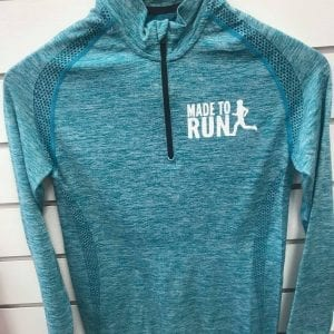Made to Run Women's 3/4 Zip Top - Turquoise