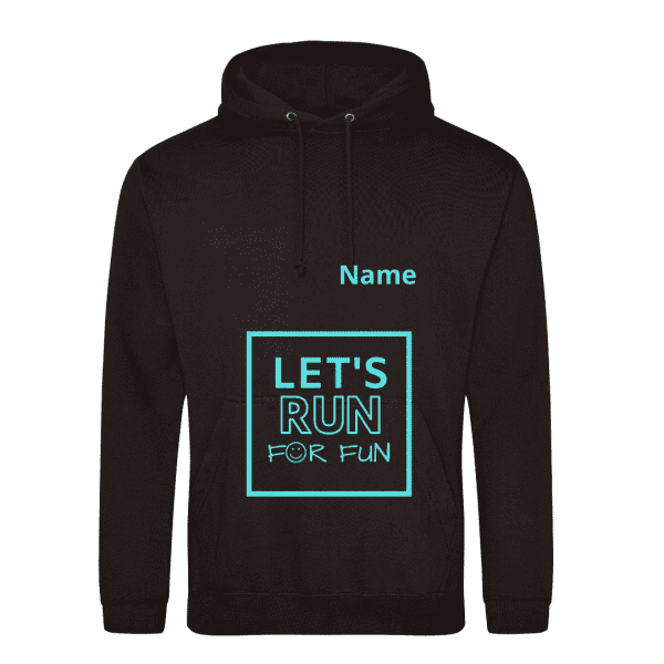Lets run for fun hoodie